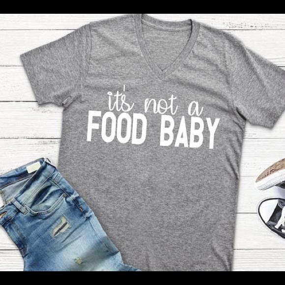 f515da73 Plum Creek Boutique Tops | Pregnancy Announcement Shirt Food Baby ...